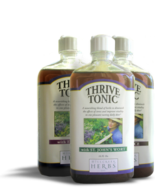 Millcreek Herbs Thrive Tonic for natural stress relief and imrpoved vitality